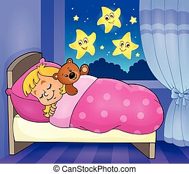 Sleeping child theme image 2 - eps10 vector illustration.