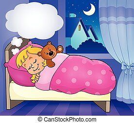 Sleeping child theme image 3 - eps10 vector illustration.