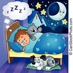 Sleeping child theme image 6 - eps10 vector illustration.