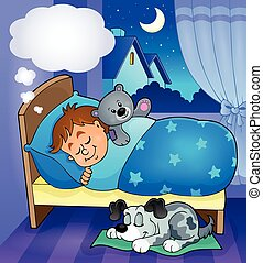 Sleeping child theme image 7 - eps10 vector illustration.