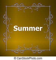 Elements for Summer calligraphic designs Vintage ornaments...