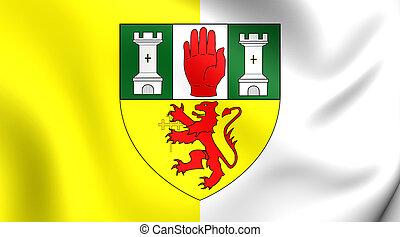 Flag of County Antrim, Northern Ireland.