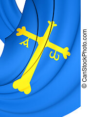 Principality of Asturias Flag, Spain - Principality of...