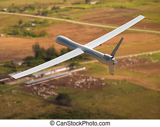 Unmanned aerial vehicle - Flying unmanned aerial vehicle...