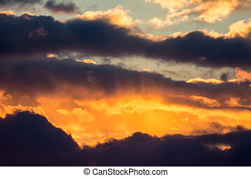 Dramtic Sky Background - Dramatic sky at an approaching...