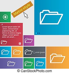 Folder icon sign. buttons. Modern interface website buttons with cursor pointer. Vector