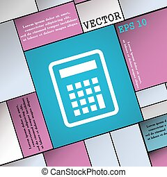 Calculator icon sign. Modern flat style for your design. Vector