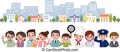 People of various occupations - Vector illustration.