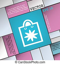 shopping bag icon sign. Modern flat style for your design. Vector