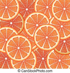 Grapefruit Slices Background
