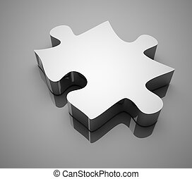 Chrome puzzle , This is a computer generated and 3d rendered...