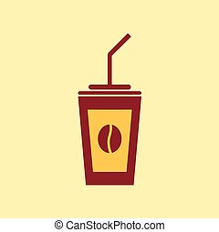 Fast food vector icon. Coffee pictogram.