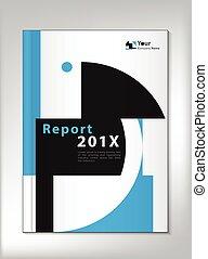 relatório, cobertura, anual, desenho, vetorial