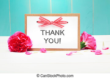 Thank You message card