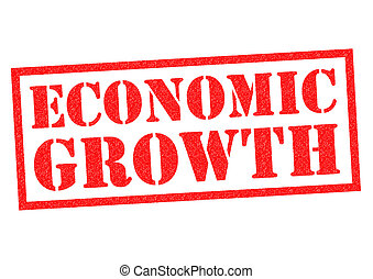 ECONOMIC GROWTH red Rubber Stamp over a white background