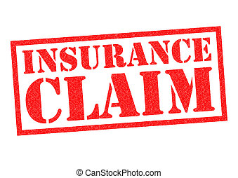 INSURANCE CLAIM red Rubber Stamp over a white background.
