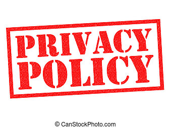 PRIVACY POLICY red Rubber Stamp over a white background.