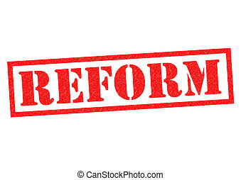 REFORM red Rubber Stamp over a white background