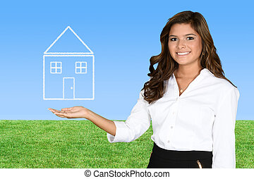 Home Ownership - A woman who is buying her first home
