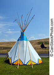 Wigwam teepee. - Wigwam Authentic teepee of Native North...