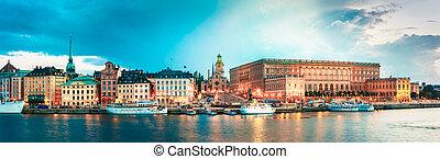 Embankment In Stockholm At Summer Day, Sweden - Embankment...