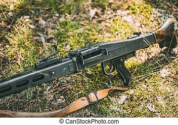 ametralladora, mg, 42, arma de fuego, general, máquina,...
