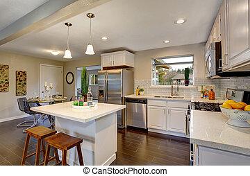 Nice kitchen in modern home.