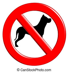 Sign prohibiting dogs - Illustration of the sign prohibiting...
