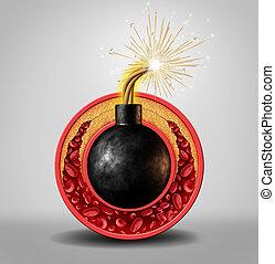 colesterol, tiempo, bomba,