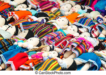 Souvenir Dolls in Otavalo - Souvenir dolls for sale in...