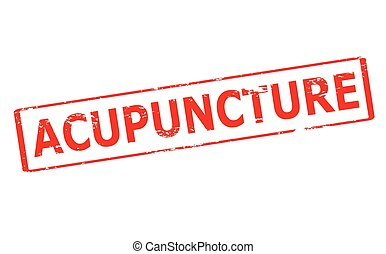 Acupuncture - Rubber stamp with word acupuncture inside,...