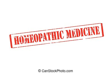 Homeopathic medicine - Rubber stamp with text homeopathic...