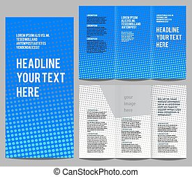 brochure design template vector trifold geometric abstract...
