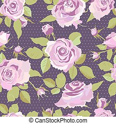 Seamless Flowers Background