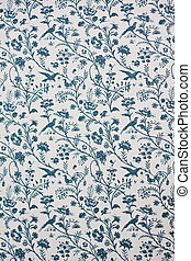 Victorian Wallpaper - Blue and White Victorian Wallpaper...
