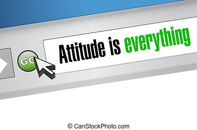 attitude is everything website sign concept illustration...