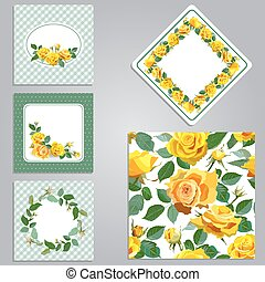 Set of seamless,frame,border with flowers.