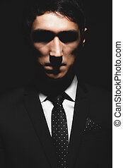 Expressive man portrait
