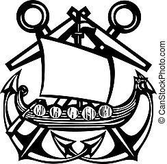 Crossed Anchor Viking