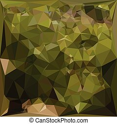 Olive Green Abstract Low Polygon Background - Low polygon...