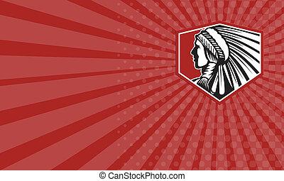 empresa / negocio, tarjeta, nativo, norteamericano, indio,...
