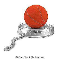 Basketball in bear trap