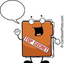 Cartoon Top Secret Folder Talking