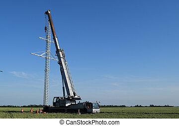 The elevator crane
