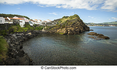 Sao Miguel island coast, the Azores in the Atlantic ocean.