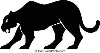 panther silhouette vector - Black panther silhouette...