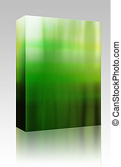 Glowing aura box package - Software package box Glowing...