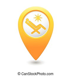 Beach chair icon on map pointer