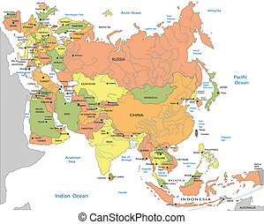 Political map of EurasiaPolitical map of Eurasia - Political...