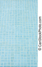 mosaic tile background in swiming pool - blue mosaic tile...